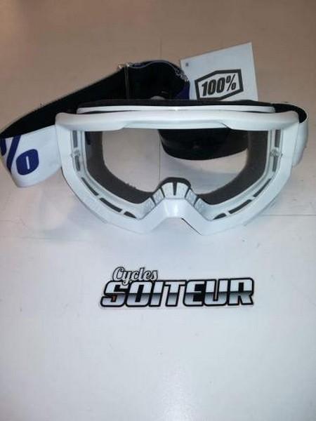 lunette motocross 100 strada blanche cycles soiteur. Black Bedroom Furniture Sets. Home Design Ideas